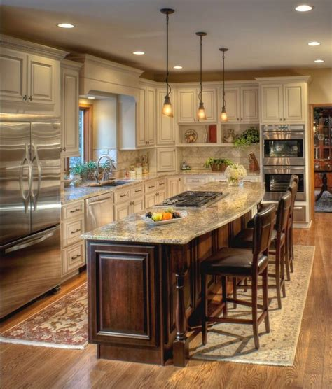 kitchen island espresso ivory cabinets with a chocolate glaze coordinate well with 1906