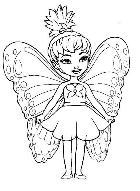 cute fairy coloring pages  girls dibujos de hadas