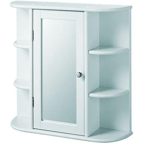 wickes single mirror bathroom cabinet   shelves