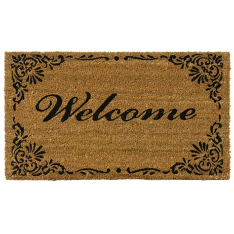 Welcome Mat by Rubber Cal Classic American 30 In X 18 In Welcome Mat 10