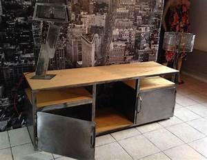 Meuble Industriel Vintage : meuble industriel vintage style loft ~ Nature-et-papiers.com Idées de Décoration