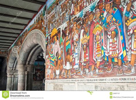 mural del palacio del gobierno en tlaxcala mexico imagen