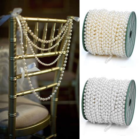 Pearls For Decoration - white ivory pearl chains for decorating favors vases