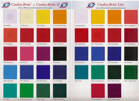 mbci color chart color charts aaa awning co inc