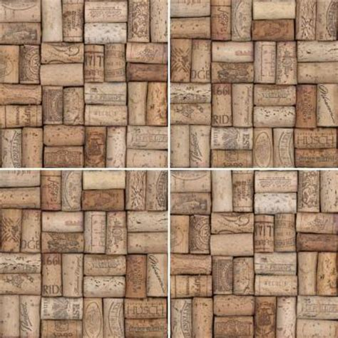 imagine tile wine corks series 8 in x 8 in matte finish