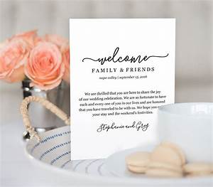 wedding welcome bag note welcome bag letter printable With wedding welcome bag letter