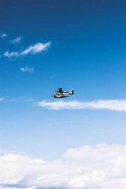 Plane Flight Sky Clouds