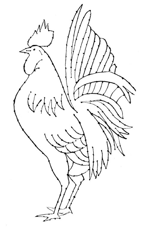 embroidery pattern rooster  art  graphics fairy