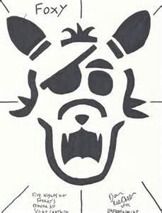 Freddy Krueger Pumpkin Carving Stencil Free by F N A F Foxy Jack O Lanturn Layout By Drfloofnstache On