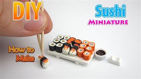 diy realistic miniature sushi dollhouse  polymer