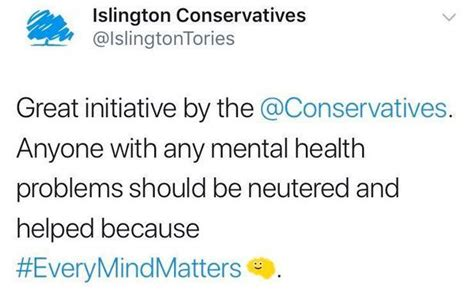 Islington Tories Call for Mentally Ill People to be ...