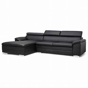Franklin chaise sectional sofa black adjustable for Franklin sectional sofa chaise