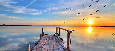 Beautiful Ocean Sunset Beach Landscape Photography Poster ...
