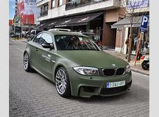 BMW 1 series in matte green wrap TShirts Pinterest