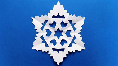 paper snowflake easy tutorial  snowflakes