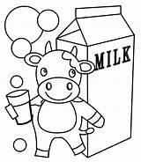 Coloring Milkshake Milk Printable Getcolorings sketch template