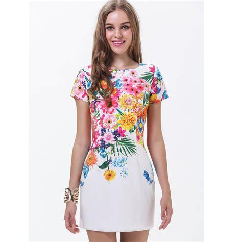 sleeve patterned dress 2015 summer new designer mini dress fashion