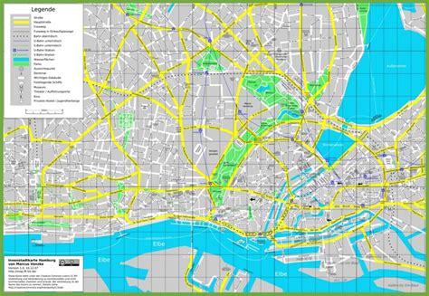 hamburg tourist map