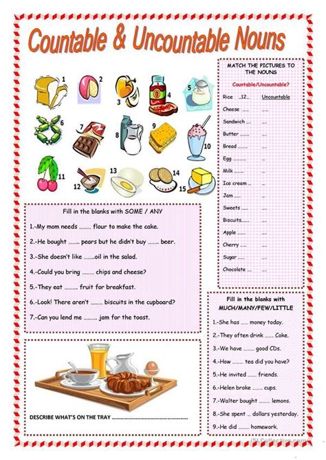 countable  uncountable nouns  images english