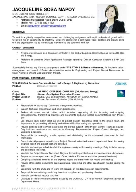 Document Controller Resumes by Jsm Document Controller Cv