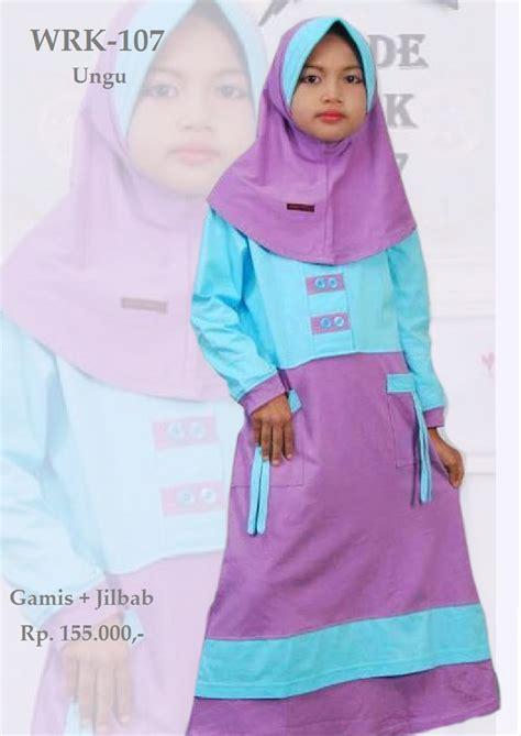 Gamis Anak Cutetrik Ungu jual baju gamis anak perempuan wrk 107 ungu di lapak