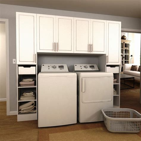 Modifi Madison 90 In W White Tower Storage Laundry