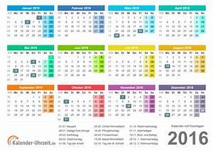 Kalender Zum Ausdrucken 2016 : kalender 2016 zum ausdrucken a4 pdf bunt kaluhr http ~ Whattoseeinmadrid.com Haus und Dekorationen