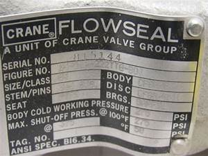 Crane Flowseal 4 U0026quot  Lug Type Stainless Butterfly Valve W