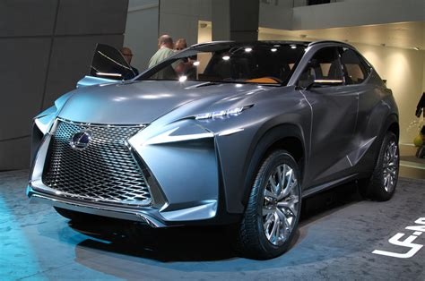 lexus lf lexus lf nx crossover concept is one mean looking hybrid