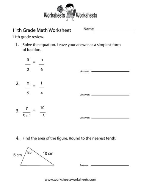 grade math review worksheet  printable