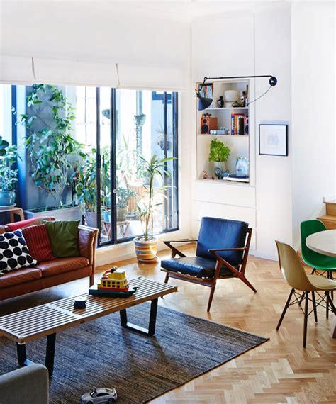 interieur colore melant vintage  contemporain