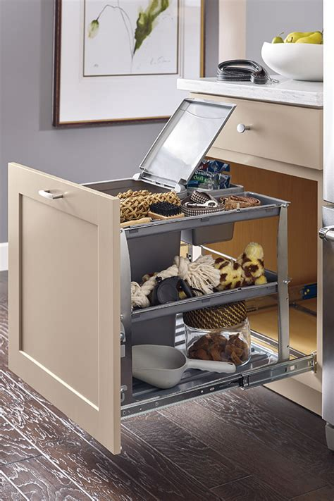 base bin tray pullout cabinet diamond cabinetry