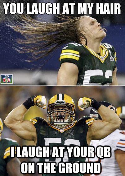 Green Bay Packer Memes - clay matthews hair daily snark