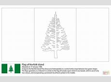 Flag of Norfolk Island coloring page Free Printable
