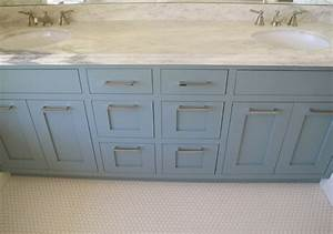 Blue bathroom vanity contemporary bathroom benjamin for Best brand of paint for kitchen cabinets with bathroom wall art sets