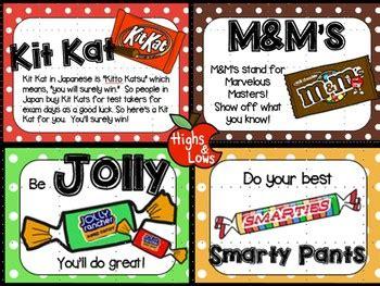 testing motivation  encouragement notes treat tags