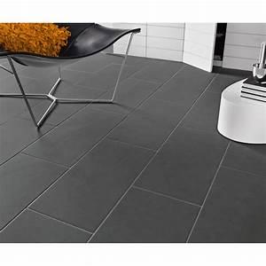 carrelage sol et mur gris gris 1 effet beton oslo l30 x l With carrelage rectangulaire