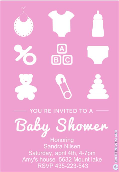 baby shower invitation templates sample templates