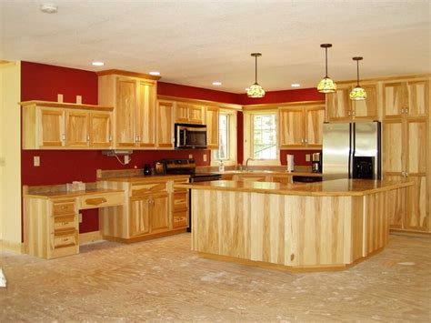 kitchen tile ideas  hickory cabinets loccie