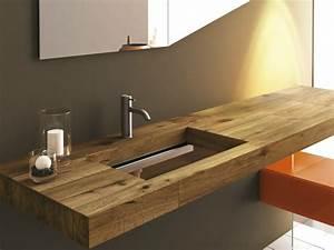 Holz Für Badezimmer : badezimmer waschbecken 29 beispiele mit modernem design ~ Frokenaadalensverden.com Haus und Dekorationen