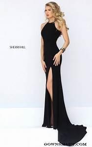 Long black prom dresses 2017