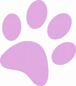 Light Pink Paw Print Clip Art at Clker.com - vector clip ...