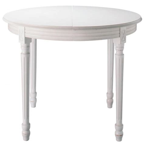 white round extending dining table wooden round extending dining table in white d 120cm louis