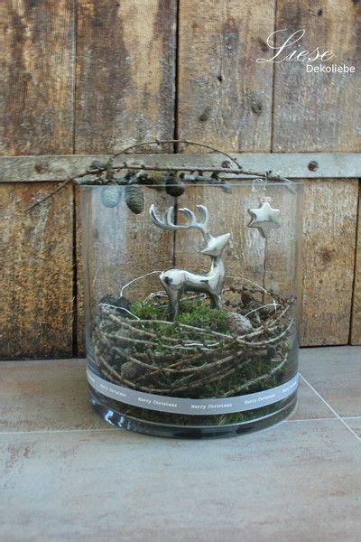 Amaryllis Im Glas Dekorieren by Weihnachten Deko Objekte Reh Im Glas Ein