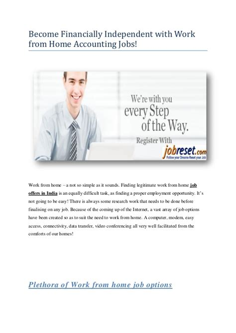 work from home accounting become financially independent with work from home accounting jobs