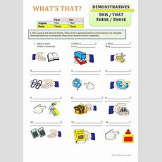 Demonstratives, This, That, Those, These Worksheet  Free Esl Printable Worksheets Made By Teachers