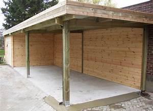 Construire Un Carport : carports bois toit plat double pente pergolas decochalet ~ Premium-room.com Idées de Décoration