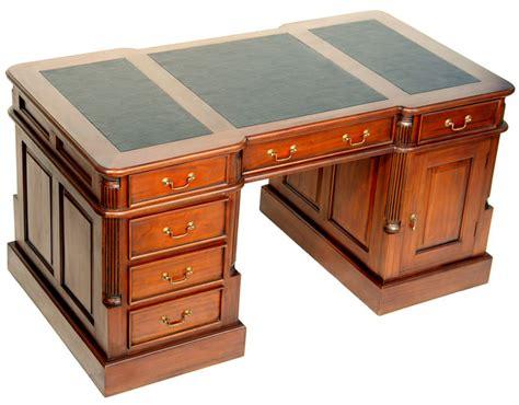 bureau de style bureau de style anglais 140 cm en acajou avec sous