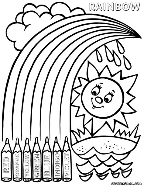 rainbow coloring pages coloring pages    print