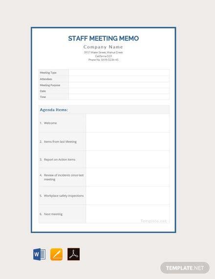 staff meeting memo template  word apple
